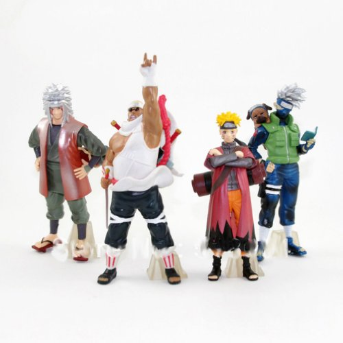 Japanese Anime Naruto PVC Figure Collectable Model Toys Doll 12-16cm 4pcs/set Gifts for Birthday Xmas