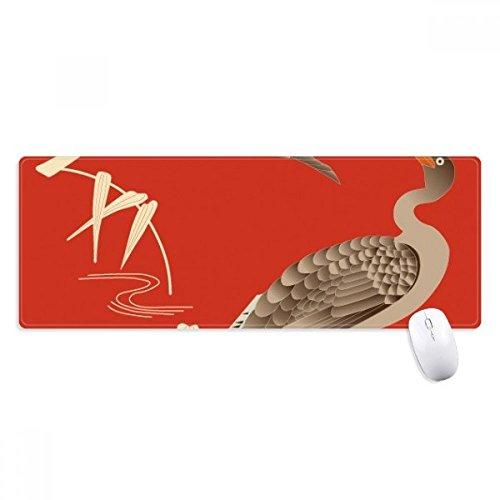 Rojo cultura japonesa Otoño antideslizante Mousepad grande extendida Juego oficina titched bordes alfombrilla para...