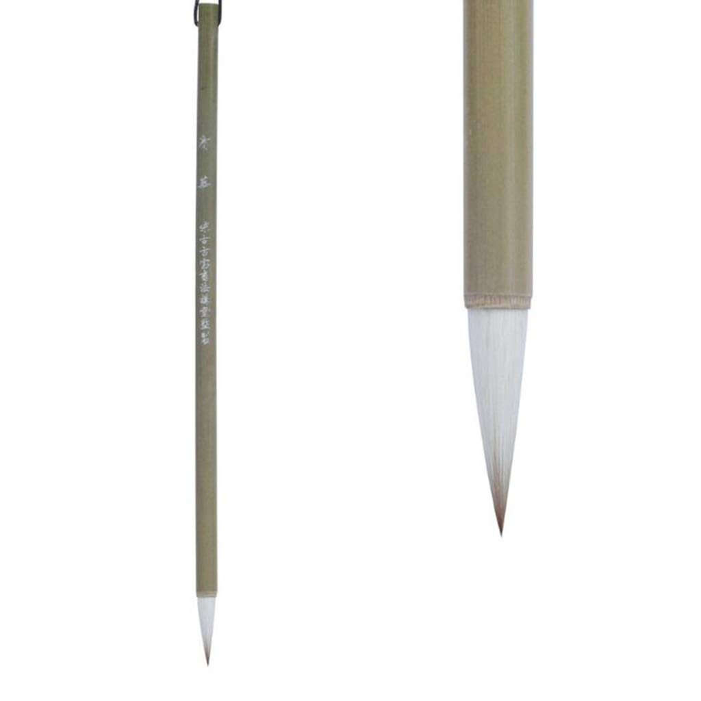 QTT Calligraphy Pen, Bamboo Poles Lower Case, Students Beginners Brush( 3 Pcs )