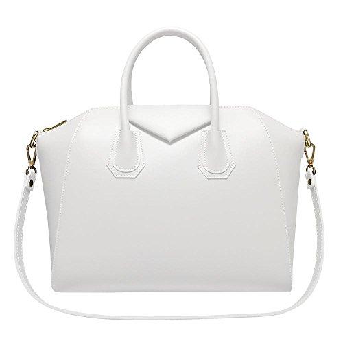 Superflybags - Bolso de asas para mujer XL blanco