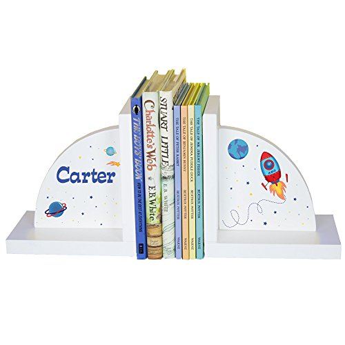 Child's Personalized Rocket Ship (Theme Bookends)