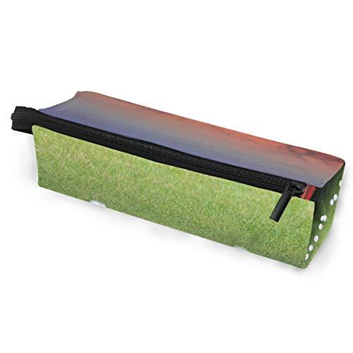 (LEVEIS Golf Balls Portable Eyeglasses Case Soft Bag Zipper Sunglasses Holder, Custom Pencil Cosmetic Bags Storage for Women Girls)