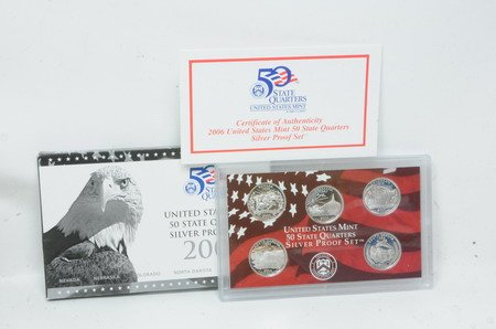 2006 UNITED STATES MINT 50 STATE SILVER QUARTERS PROOF SET