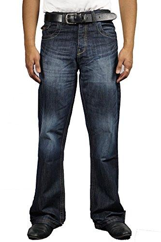 APT Herren Jeanshose blau Dark Wash
