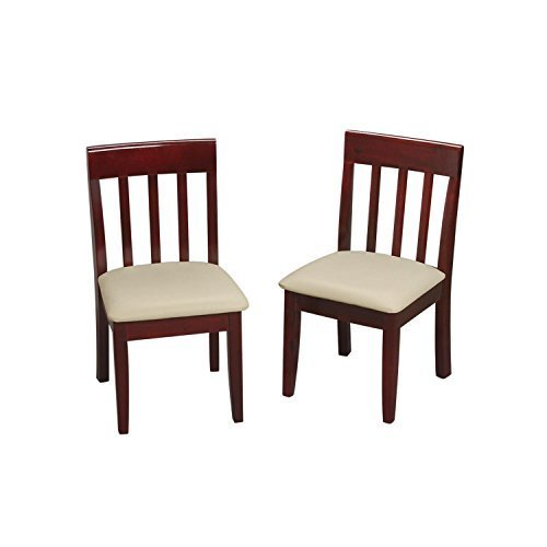 Gift Mark Children's Chair Set with Upholstered Seat, Cherry by Gift Mark [並行輸入品]   B01AL09J0U