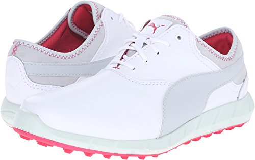 PUMA Golf Women's Ignite Golf White/Glacier Gray/Rose Red 6 B US