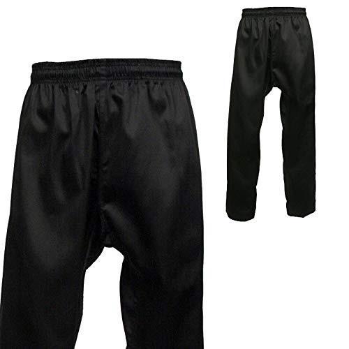 Martial Arts Karate Taekwondo Pants (Black, 00)