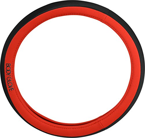 Body Glove 22-1-97492-9 Bell Automotive 22-1-97492-924 Red Steering Wheel Cover Body Glove Rubber Covers