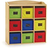 Guidecraft Colorful Bin Cubby Deluxe   Office School Supply Furniture, Kids  Toy Organizer And Multi