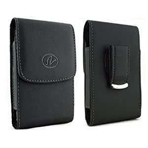 Vertical Leather Case with Magnetic closure with belt clip and belt loops for Huawei Ascend G610