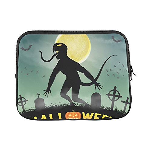 Design Custom Halloween Silhouette Monster Night Graveyard Sleeve Soft Laptop Case Bag Pouch Skin for MacBook Air 11
