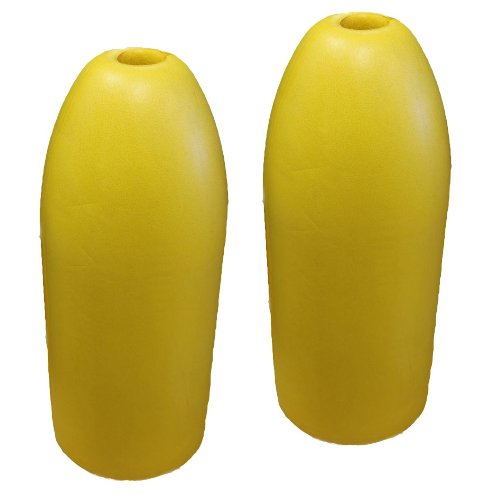 Shrimp Pot - KUFA Sports 6x14-Inch Shrimp Trap Float (2-Pack), Yellow