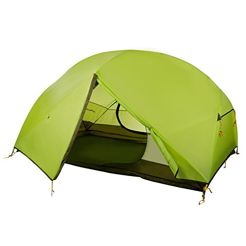 WolfWise 2 Person Backpacking Tent Ultralight for Camping Hiking Travel Green
