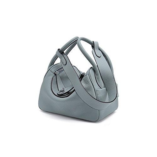 Sac Bag à Lindy en 26cmlinenblue Bandoulière Litchi à Cuir Main Nouveau Sac Model YXLONG Cuir Doctor en Bag w5qO0AC