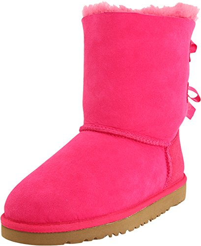 Ugg Fur Boots (UGG Kids Girl's Bailey Bow (Little Kid/Big Kid) Cerise Boot 4 Big Kid M)