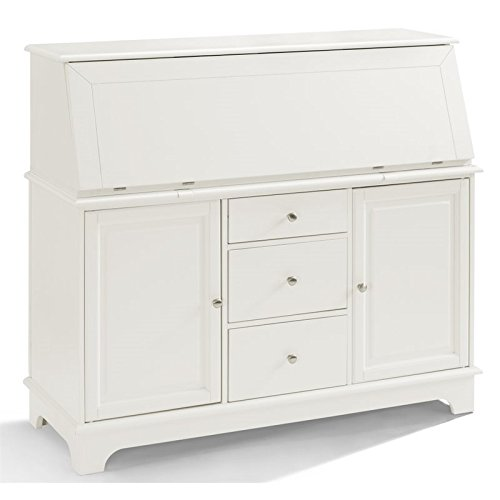 (Crosley Furniture Sullivan Secretary Desk - White)