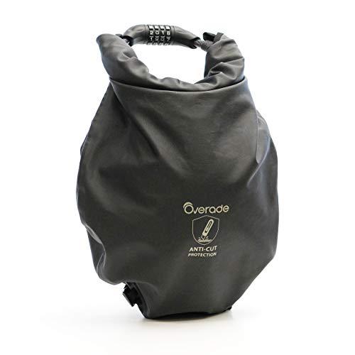 - Overade Secure Bike Bag - Waterprof, Anti-Cut Material, 12 mm Cable Lock, 4 Digit Lock (L (9L))