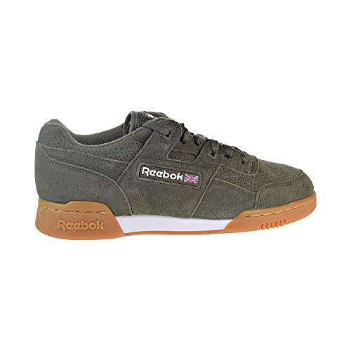 Reebok Workout Plus SG Unisex Shoes Army Green/White/Gum cn1053 (12.5 D(M) US)