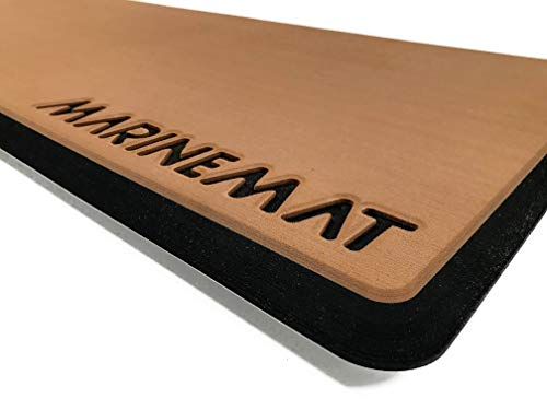 Marine Mat Helm Pad for Boat - Comfort Series 18MM - Ice Blue/Black with Border- 36x14