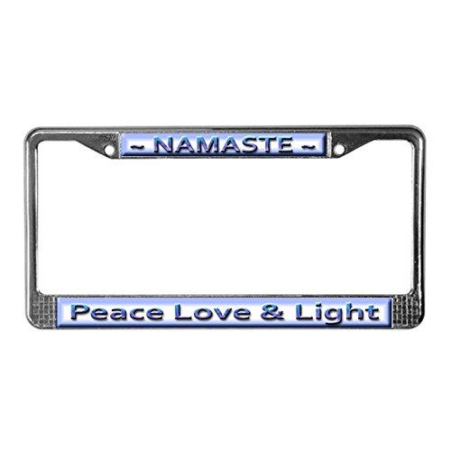 Chrome Water Water Harmony - CafePress Namaste ~ Chrome License Plate Frame, License Tag Holder