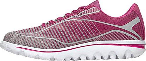 Propet Women's Billie Walking Shoe Pink, Grey
