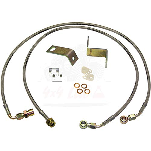 (Skyjacker Stainless Steel Brake Line Front for 4WD Ford F-250 Super Duty 2005-2007)