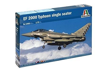 Amazon.com: Italeri 1/72 EF 2000 Typhoon monoplaza # 1355 ...