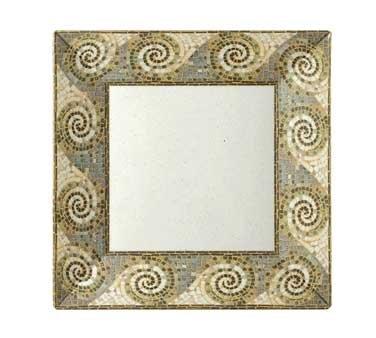 GET Enterprises inc Mosaic Melamine Square Plate, ()