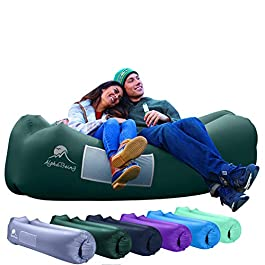 AlphaBeing Inflatable Lounger – Best Air Lounger for Travelling, Camping, Hiking – Ideal Inflatable Couch for Pool and Beach Parties – Perfect Air Chair for Picnics or Festivals