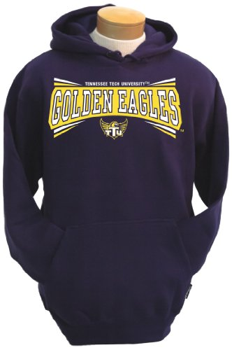 NCAA Tennessee Tech Golden Eagles Men's Condor Hooded Sweatshirt (Purple, Medium)