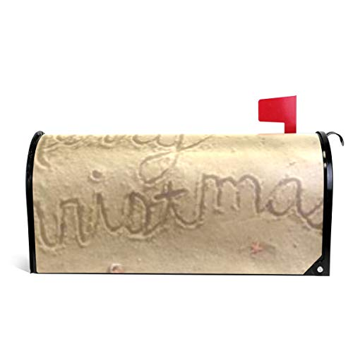Ladninag Mailbox Covers Magnetic Merry Christmas Beach ()