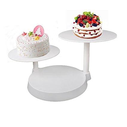 3 Niveles Cupcake Pastel Soporte Soporte de la torta Plato Alimentos Soporte Estante Bandejas para Tartas