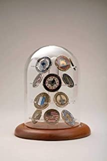 product image for flag connections Coin Display Glass Dome 24 Coins, Military Challenge Coin Holder