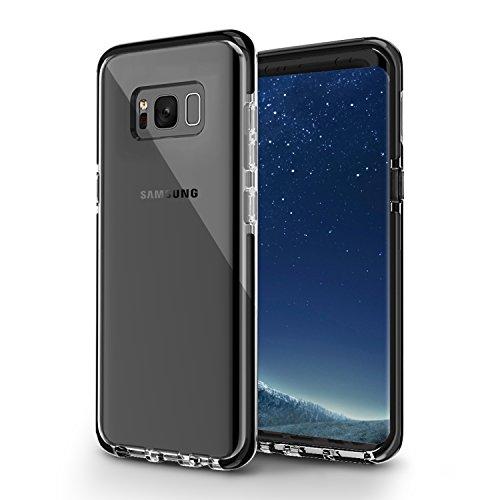 Samsung Galaxy S8 Plus Case, MIATONE Slim Shock Absorption Soft TPU+TPE Bumper Clear Case for Samsung Galaxy S8 Plus - Black