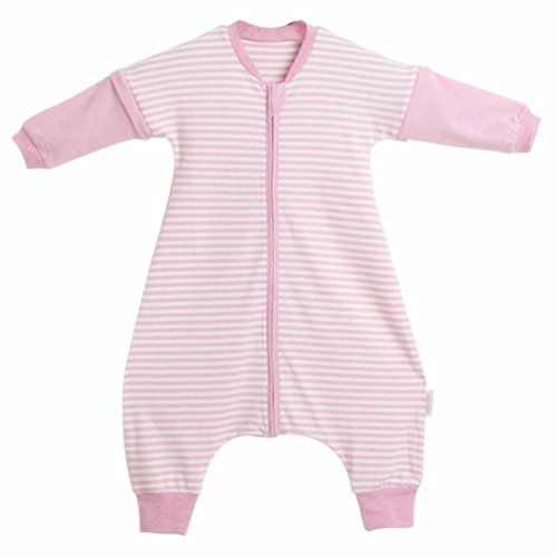 LETTAS Baby Girls Detachable Sleeves 0.5 Tog Cotton Sleeping Sack for Early Walker, (Pink,S)
