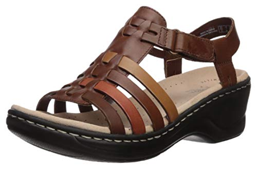 CLARKS Women's Lexi Bridge Sandal tan Combination Leather 065 M US