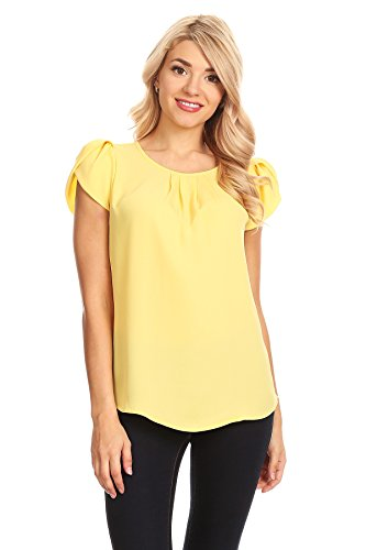 April Apparel Women's Basic TOP (X-Large, Yellow) ()