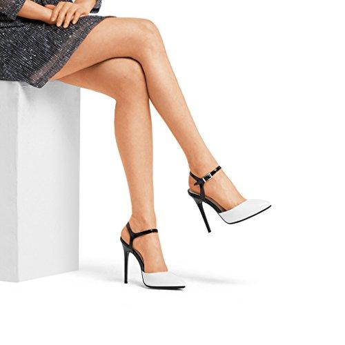 Sandali Volte Con Scarpe Bene Femminile 12 Testa Punta Baotou Alti Fibbia I Hyun A Con Sexy Tacchi Centimetri Tacco Nere Vuote 4BdBqw