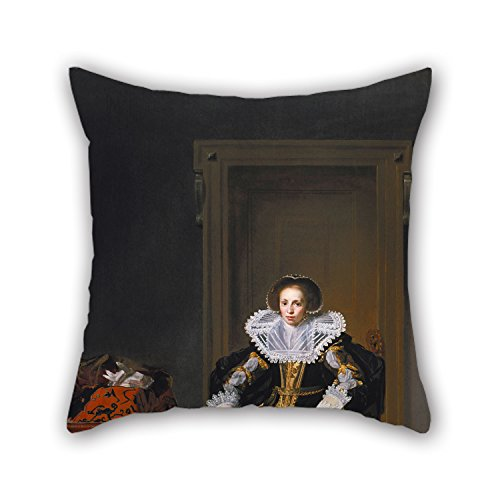 [The Oil Painting Thomas De Keyser - Portrait Of A Lady Throw Pillow Case Of ,20 X 20 Inch / 50 By 50 Cm Decoration,gift For Couch,shop,valentine,birthday,dining Room,seat (twice] (Thomas The Train Costume Walmart)