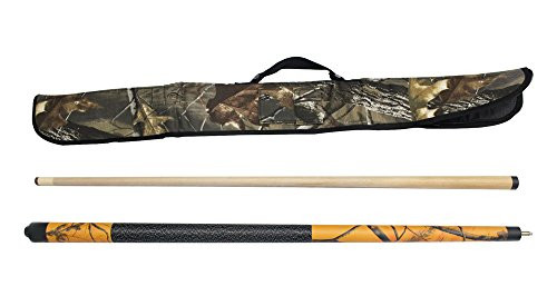 Viper Realtree 19 oz Blaze Orange Camo Cue with Soft Hardwoods HD Camo Case by Game Room Guys