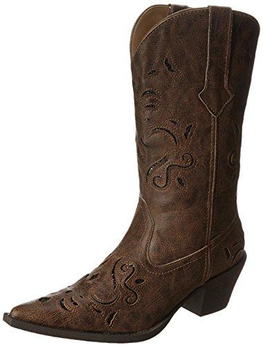Roper Women's Glitter Underlay Boot Brown Boot 6.5 M