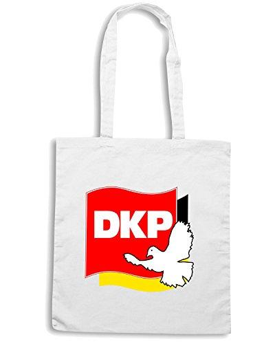 T-Shirtshock - Bolsa para la compra TM0183 DKP - Peace Flag-Logo flag Blanco
