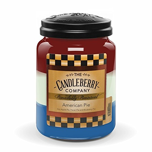 Candleberry AMERICAN PIE, Fine Fragrance Candle For The Home, Large Glass Jar, 26 oz Blueberry Pie Collection