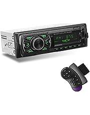 GRUNDIG Bluetooth-autoradio met USB/TF/SD/AUX, handsfree bellen Digitale mediaspeler Car Audio FM-radio met draadloze afstandsbediening, 4 x 60 W auto-mp3-speler met 7 kleuren