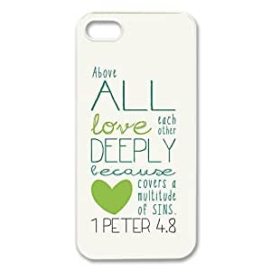 diycover iPhone 4s Case - Bible Verse 1 Peter 4s.8 - New Style Durable Case Cover