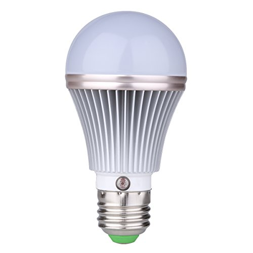 E27 5W LED Dusk to Dawn Sensor Light Bulbs [Aluminum] Built-in Photosensor Detection Auto Switch Light 3000K Warm White Indoor/Outdoor Lighting Lamp for Porch Hallway Patio Garage (Light Bulbs Timer compare prices)