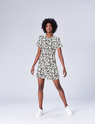 Corto Mujer Vestido De black Mix Find Flores Multicolor 5OTwxwqp