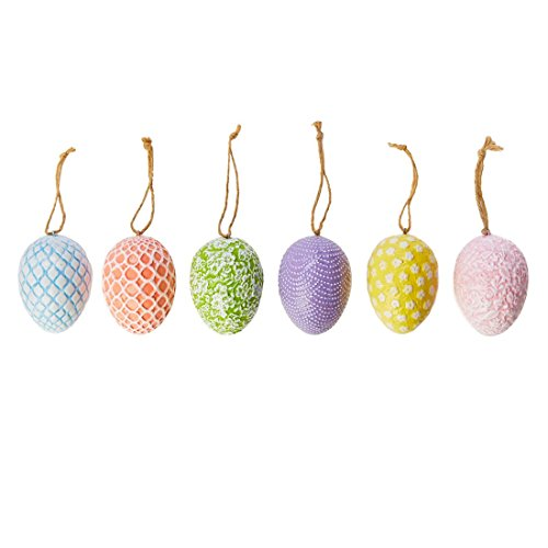 BrylaneHome Decorative Easter Eggs, Set Of 6 (Assorted,0) by BrylaneHome