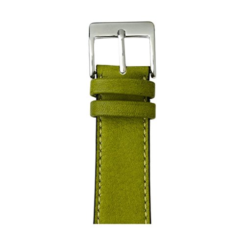 Roobaya | Premium Sauvage Leather Apple Watch Band in Moss Green | Includes Adapters matching the Color of the Apple Watch, Case Color:Stainless Steel, Size:42 mm by Roobaya