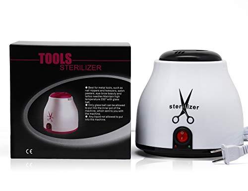 Nail Sterilizer Disinfect Machine High Temperature Sterilizing Pot for Tattoo Nipper Manicure Salon Tool Equipment